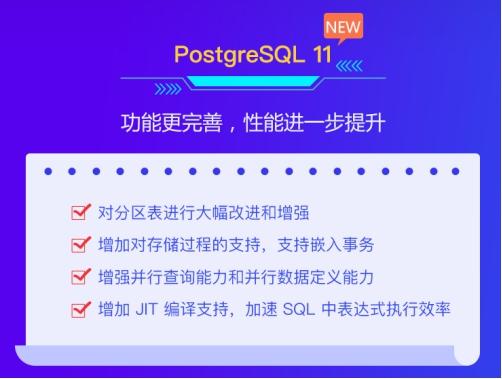 华为云数据库 PostgreSQL 11全新上线